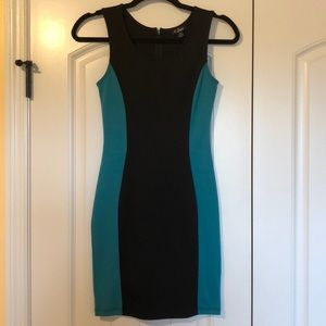 Hot! Black and Teal Guess Party Dress Worn Once Sm